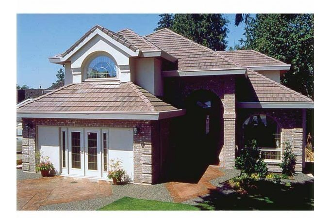 Eplans Mediterranean House Plan Well Suited Narrow Lot