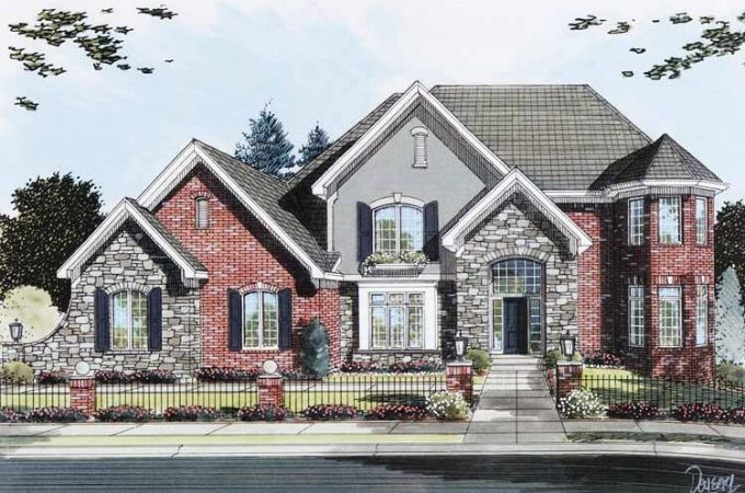 Eplans New American House Plan Brick Stone Two Story