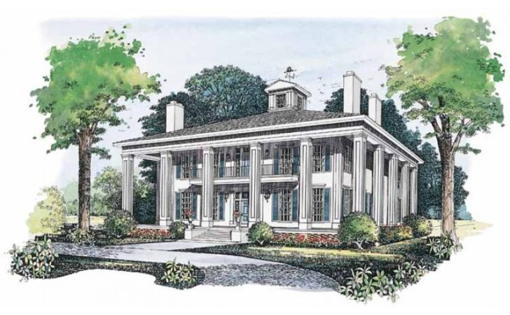 Eplans Plantation House Plan Southern Colonial Warmth