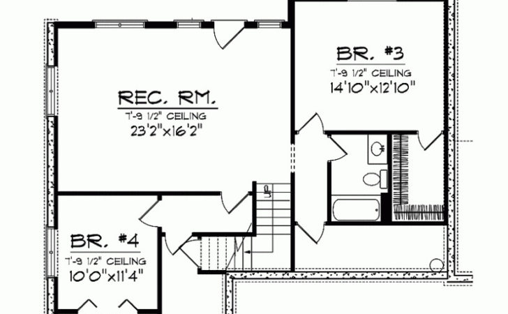 Eplans Ranch House Plan Four Bedroom Square