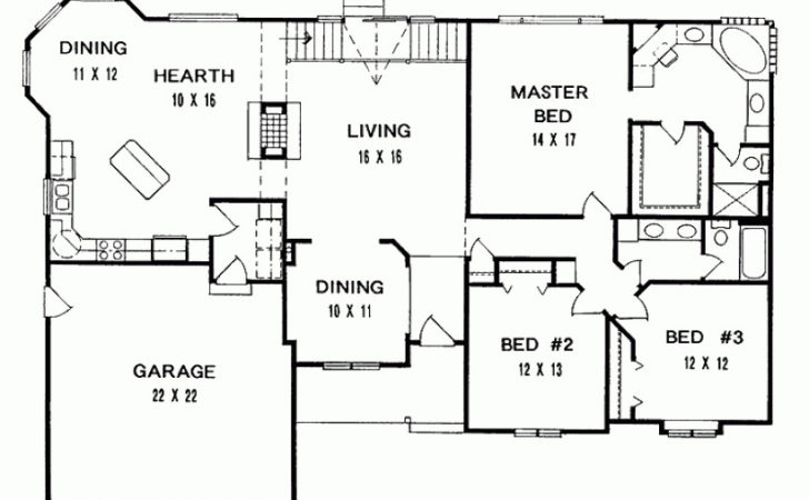 Eplans Ranch House Plan Three Bedroom
