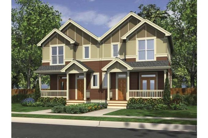 Eplans Split Level House Plan Craftsman Duplex