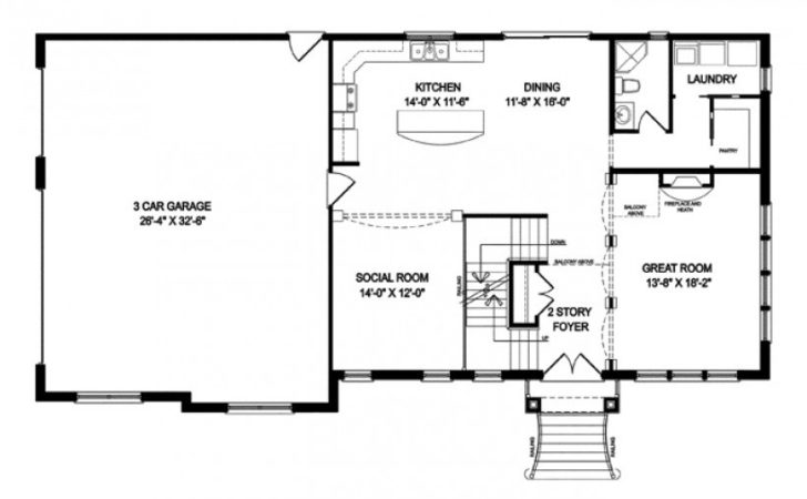Eplans Traditional House Plan Two Story Open