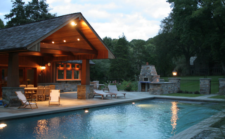 Evening Swimming Pool Behind House Outdoor Chair