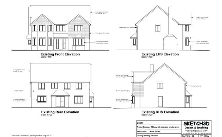 Example Granny Annex Plans Two Storey Side Extension