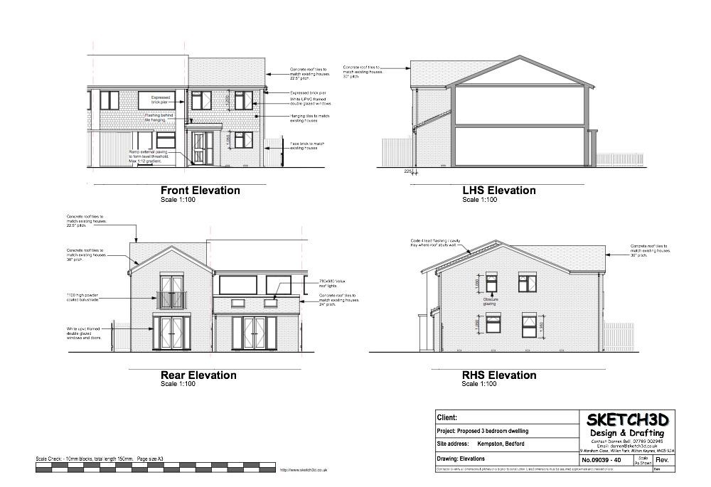 Example House Plans Bedroom End Terrace Built