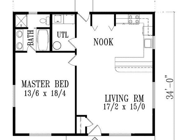 Exceptional One Bedroom Home Plans House
