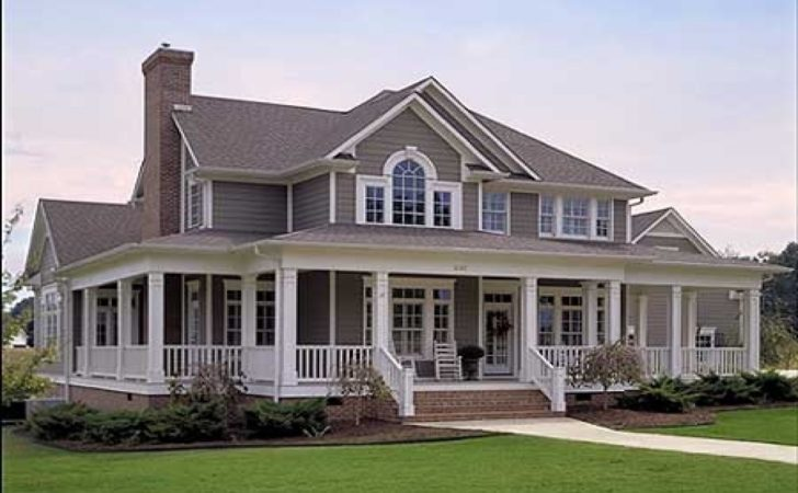Farm House Wrap Around Porch Houses
