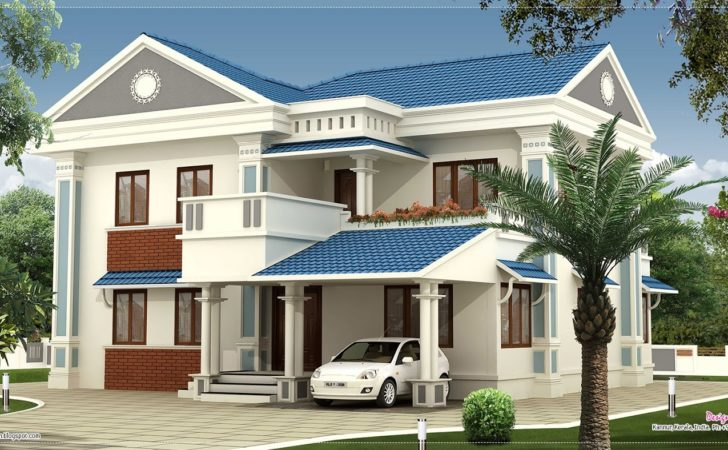 Feet Beautiful Villa Elevation Design Kerala