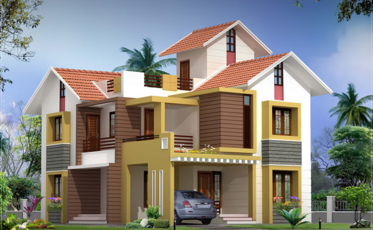 Feet Villa Floor Plan Elevation House Design