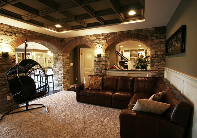 Finished Basements Modern Basement Other Metro