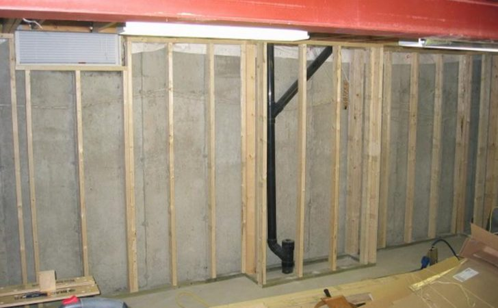 Finishing Basement Remodel Design Concrete Wall