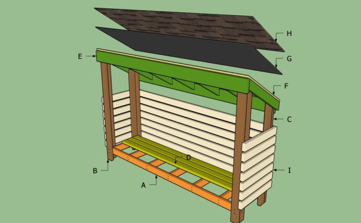 Firewood Shed Building Plans Quick Woodworking Projects