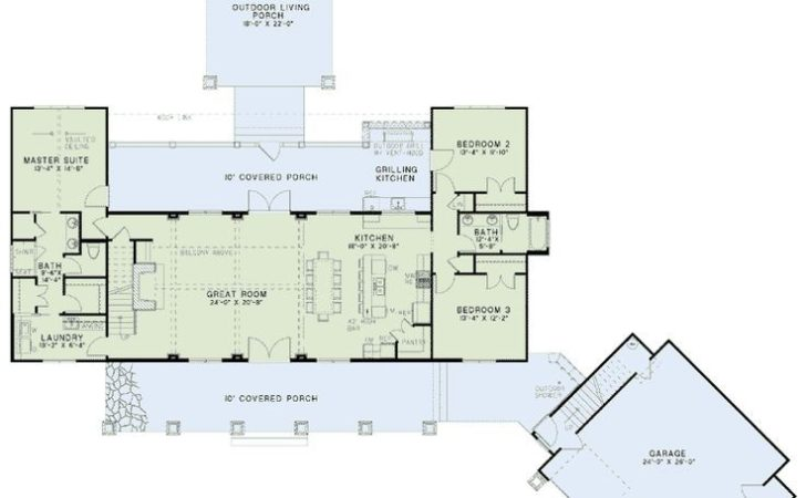First Floor Plan Country Craftsman Farmhouse House