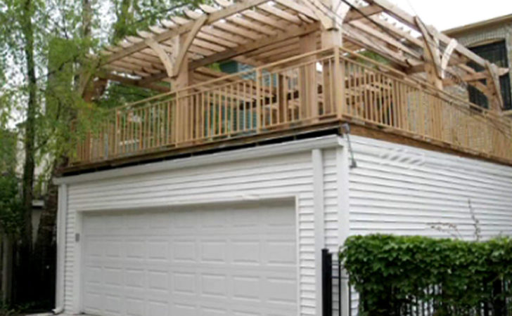 Flat Roof Garage Designs Contemporary House Large