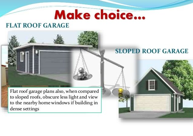 Flat Roof Garages Can Better Choice