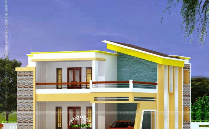 Flat Roof Home Luxury Kerala Design Floor Plans Modern