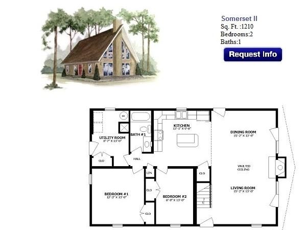 Floor Plan Chalet Showcase Homes Maine Bangor