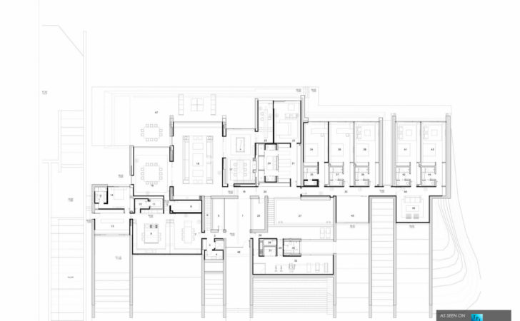 Floor Plan Concrete House Luxury Residence Pozuelo