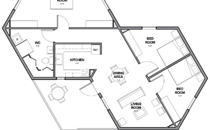 Floor Plan Designs Regard Small Hexagon House