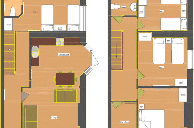 Floor Plan Disabled Holiday Cottages Wet Room