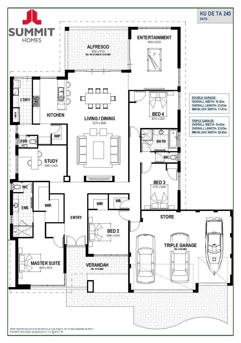 Floor Plan Friday Open Living Triple Garage