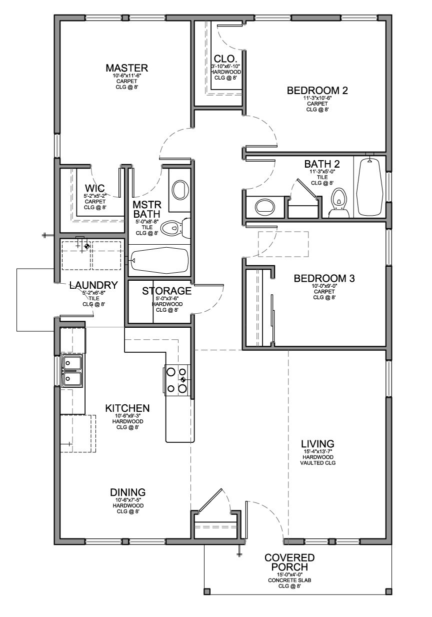 Floor Plan Small House Bedrooms