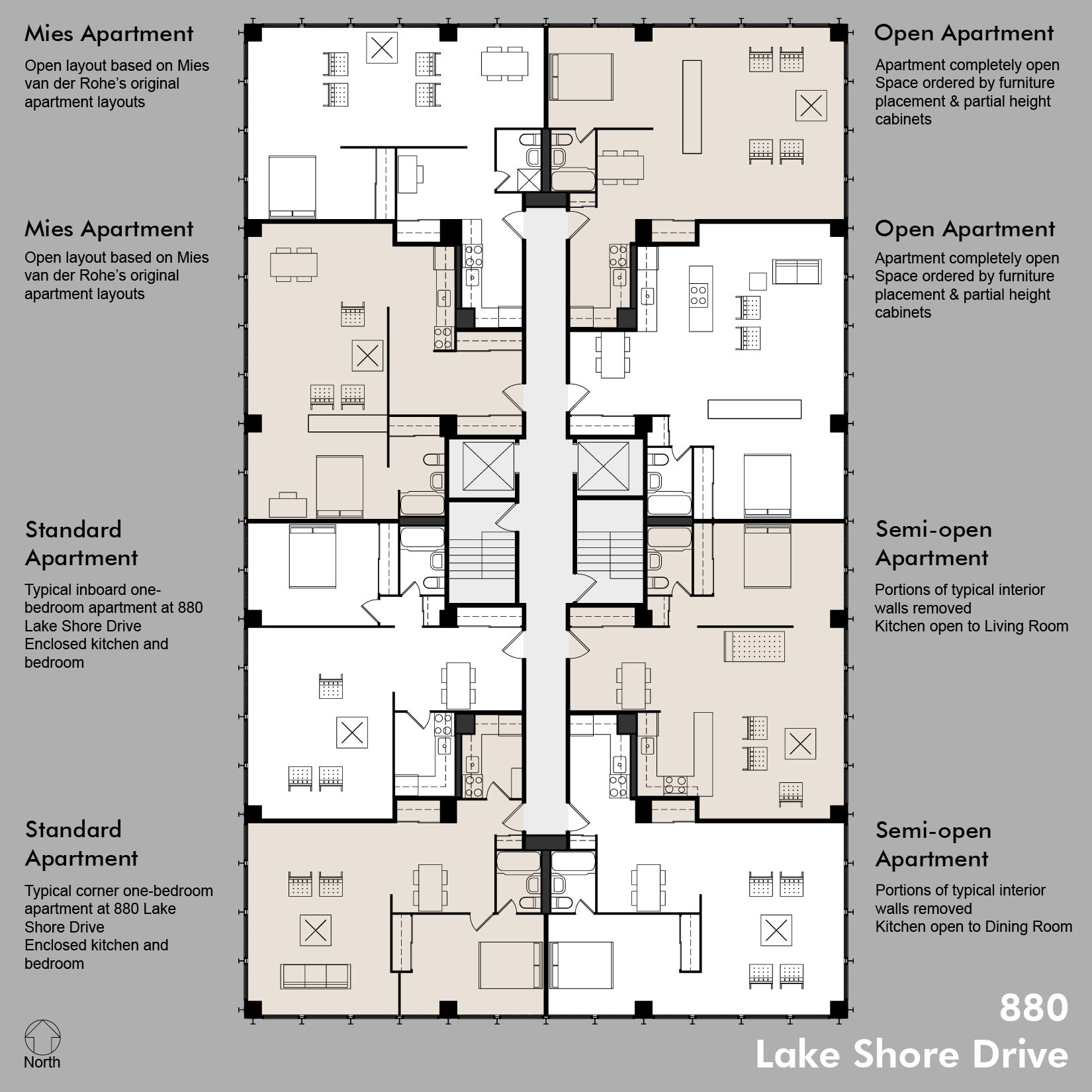 Floor Plans Including Standard Apt