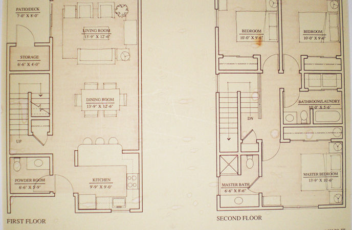 Floor Plans Townhouse Heron Club