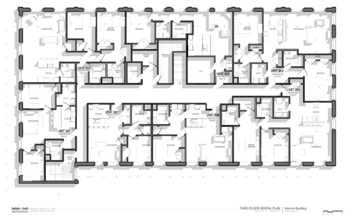 Floorplans Keenan Center Apartments