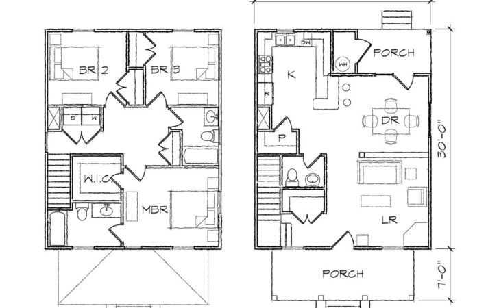 Four Square Prairie Floor Plan Tightlines Designs