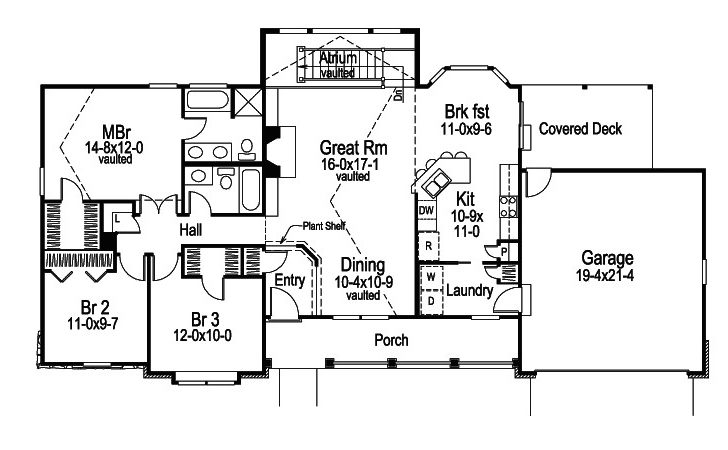 Foxridge Country Ranch Home Plan House Plans