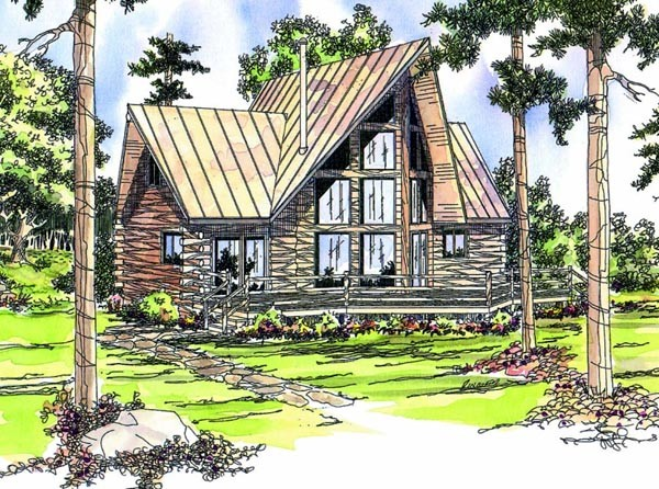 Frame Log Home Plans