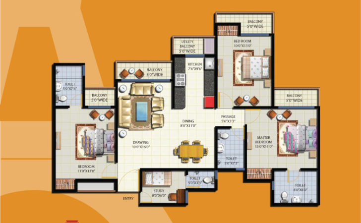 French Apartments Floor Plans