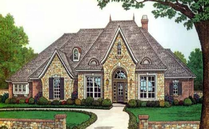 French Country One Story House Plans