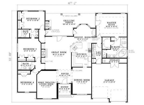 Fromberg Traditional Home Plan House Plans