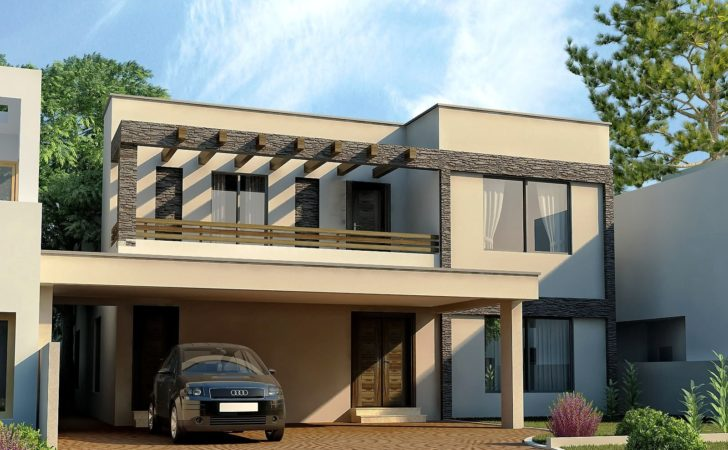 Front Elevation Dha Lahore Kanal Modern