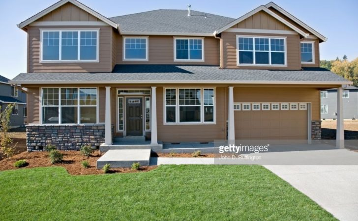 Front House Lawn Driveway Getty
