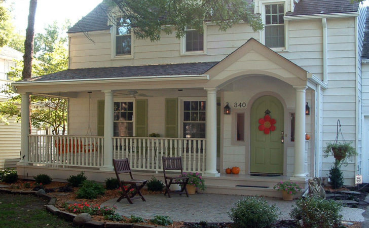 Front Porch Ideas Exterior Farmhouse Exposed Rafters