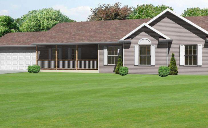 Front Porch Ranch House Plan