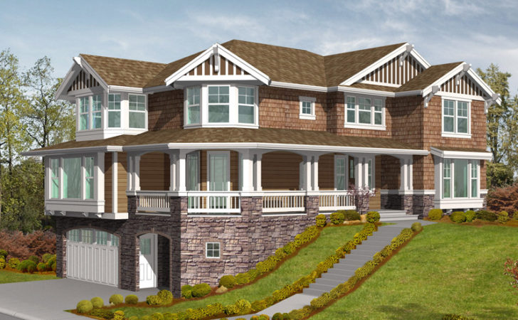 Front Sloping Lot House Plans Homes Floor
