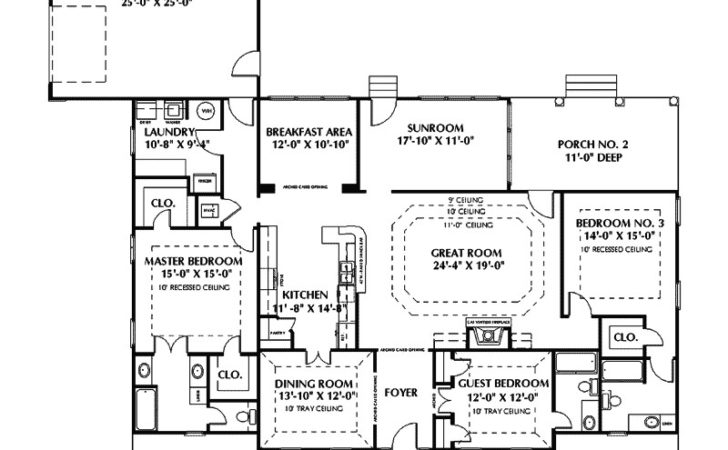 Fulbright Colonial Home Plan House Plans More