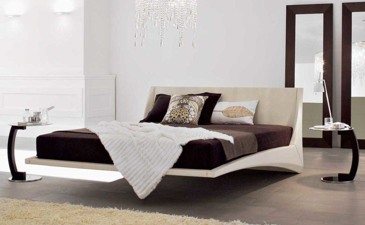 Furniture Nice Unique Floating Bed Designs Modern