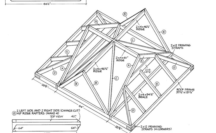 Gable Roof Construction Plans Patric Buy Hip