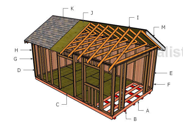 Gable Roof Plans Howtospecialist Build