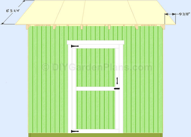 Gable Shed Plans Roof Decking Build