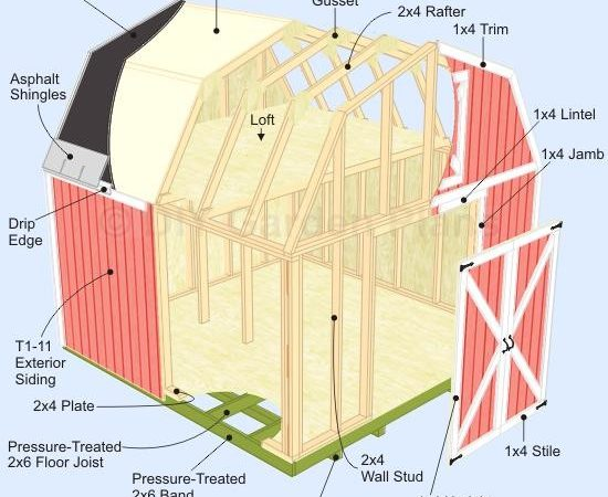 Gambrel Roof Shed Plans Pole Building Kits