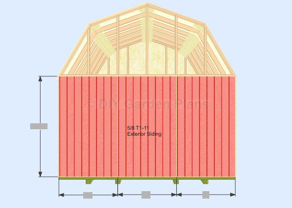 Gambrel Shed Plans Garden Must Section Sheds