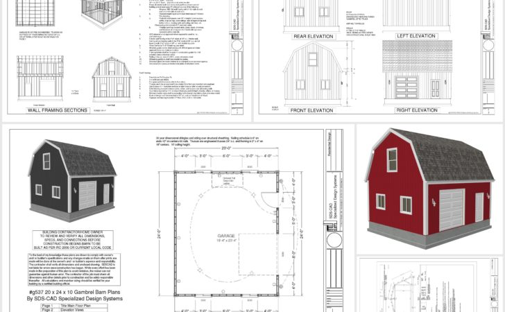 Gambrel Shed Plans Goehs