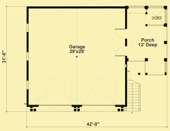 Garage Apartment Plans Bedroom Bukit
